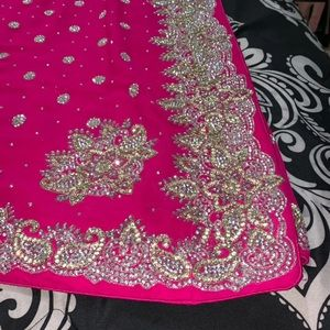Beautiful saree with embroidery,blouse included
